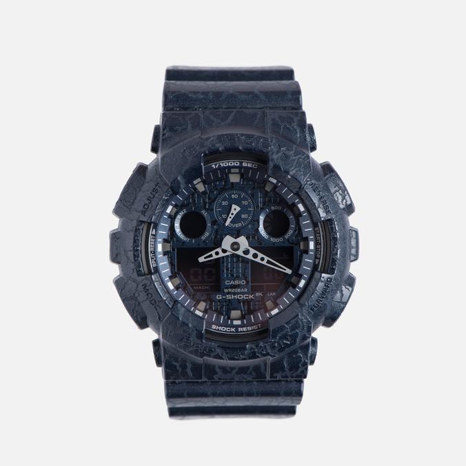 Наручные часы CASIO G-SHOCK GA-100CG-2A Cracked Ground Pattern Series Blue