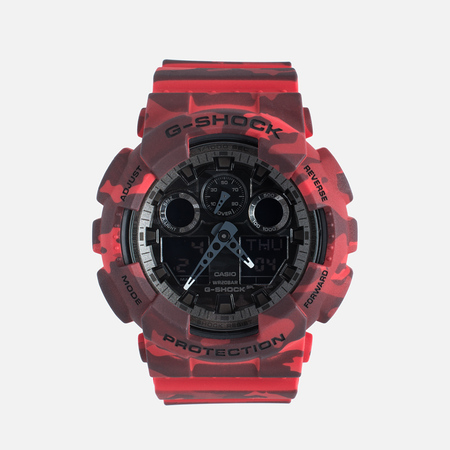 Наручные часы Casio G-SHOCK GA-100CM-4A Camo Red