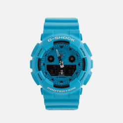 Наручные часы CASIO G-SHOCK GA-100RS-2AER Hot Rock Sound Series Blue/Black