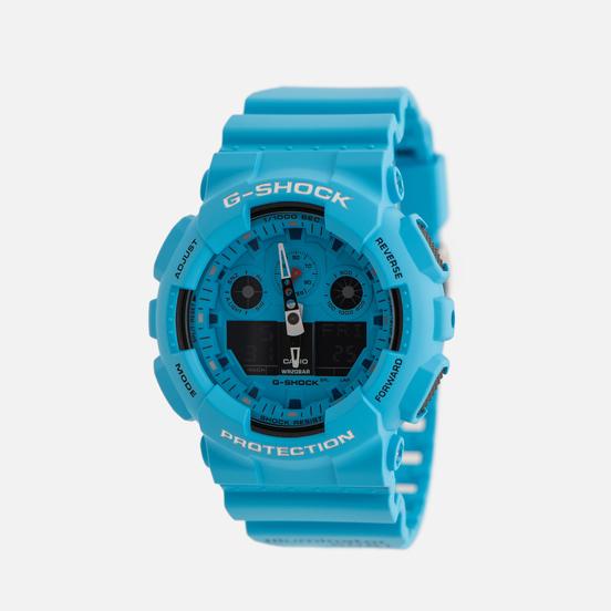 Наручные часы CASIO G-SHOCK GA-100RS-2AER Hot Rock Sound Series Blue/Black