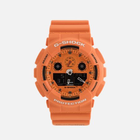 Наручные часы CASIO G-SHOCK GA-100RS-4AER Hot Rock Sound Series Orange/Black