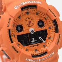 Наручные часы CASIO G-SHOCK GA-100RS-4AER Hot Rock Sound Series Orange/Black фото- 2