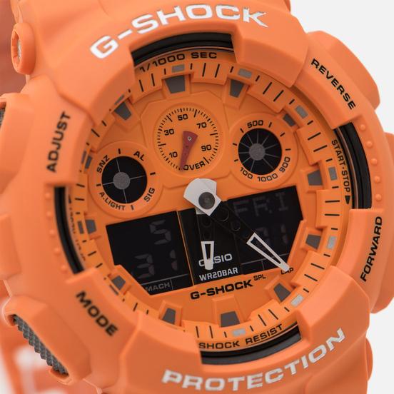 Наручные часы CASIO G-SHOCK GA-100RS-4AER Hot Rock Sound Series Orange/Black