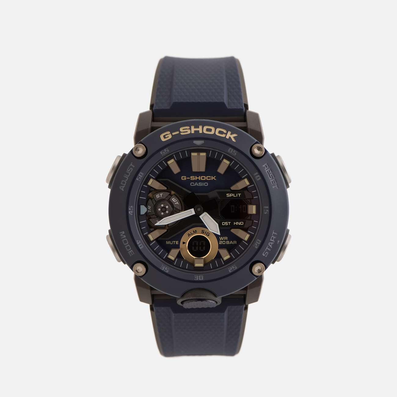 Наручные часы CASIO G-SHOCK GA-2000-2AER Carbon Core Guard Navy/Black/Gold