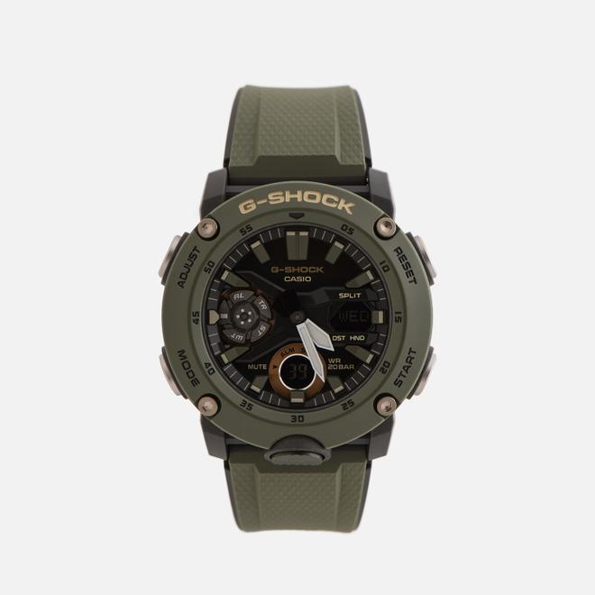 Наручные часы CASIO G-SHOCK GA-2000-3AER Carbon Core Guard Olive/Black/Gold