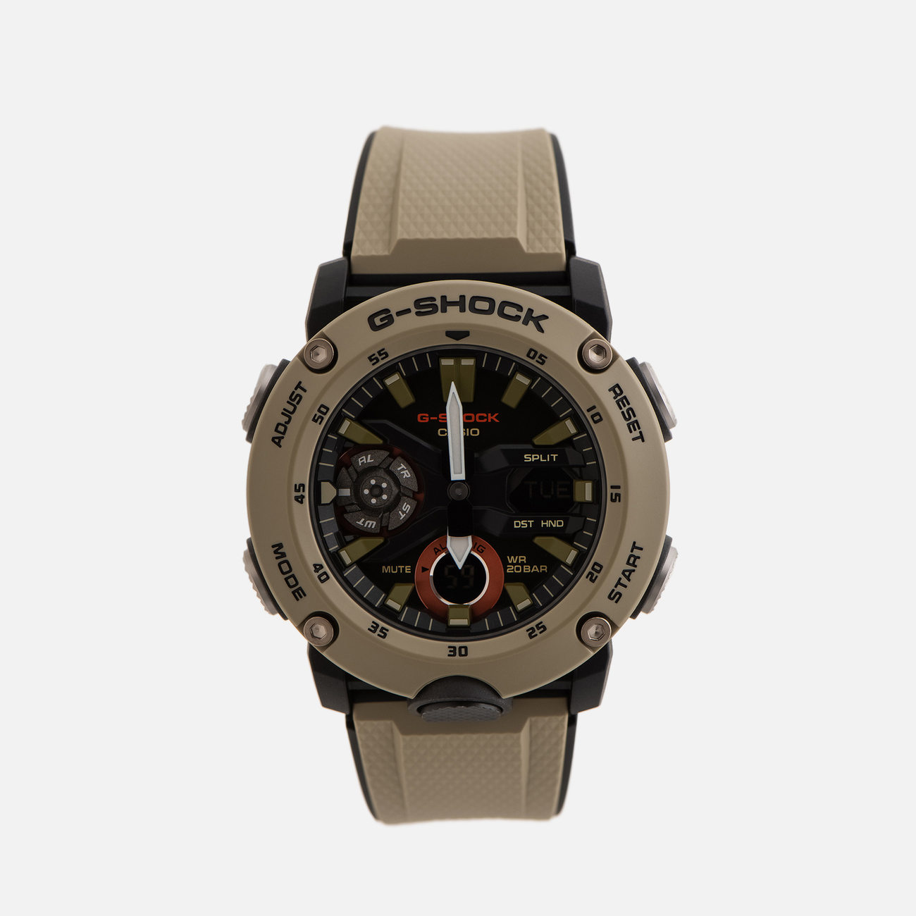 Наручные часы CASIO G-SHOCK GA-2000-5AER Carbon Core Guard Olive/Black
