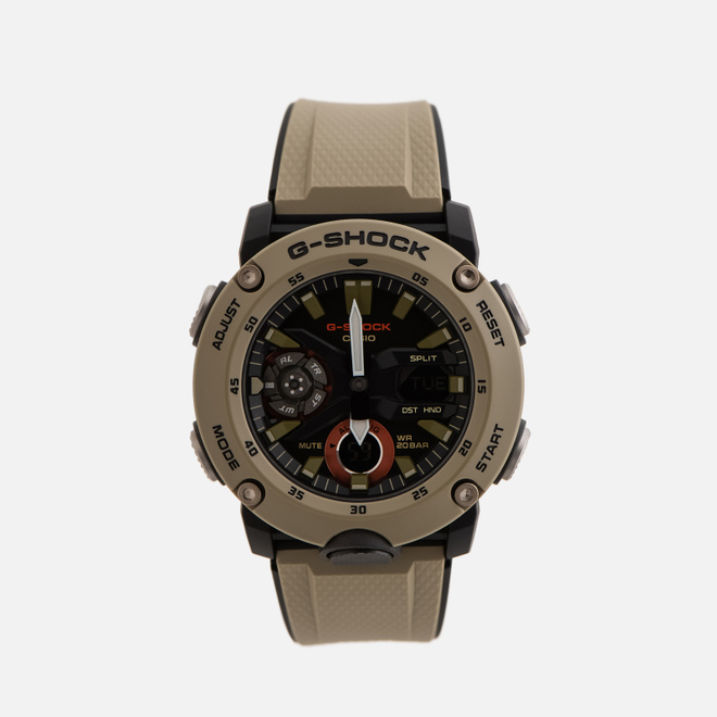 Наручные часы CASIO G-SHOCK GA-2000-5AER Carbon Core Guard Olive/Black