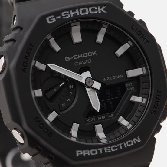 Наручные часы CASIO G-SHOCK GA-2100-1AER Octagon Series Black/Silver