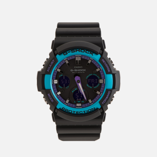 Наручные часы CASIO G-SHOCK GAW-100BL-1AER 90s Series Black/Blue/Purple