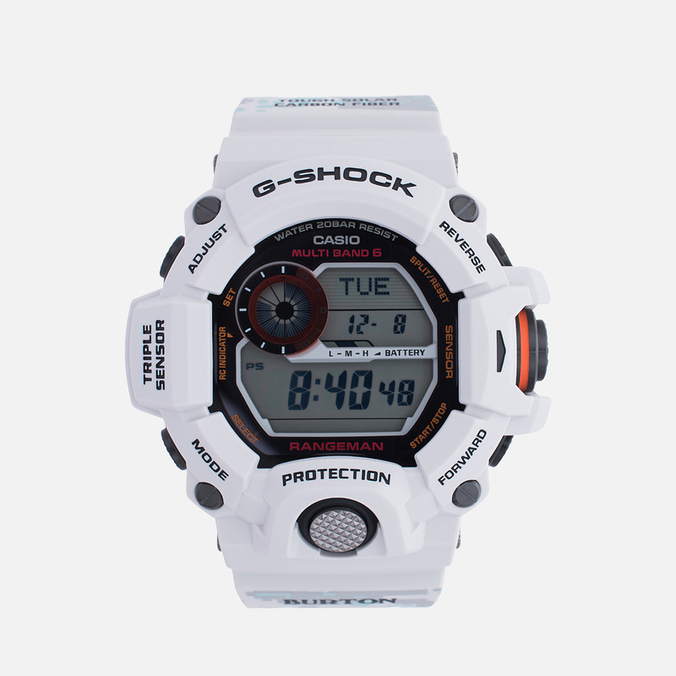 Наручные часы CASIO G-SHOCK x Burton Rangeman GW-9400BTJ-8ER White