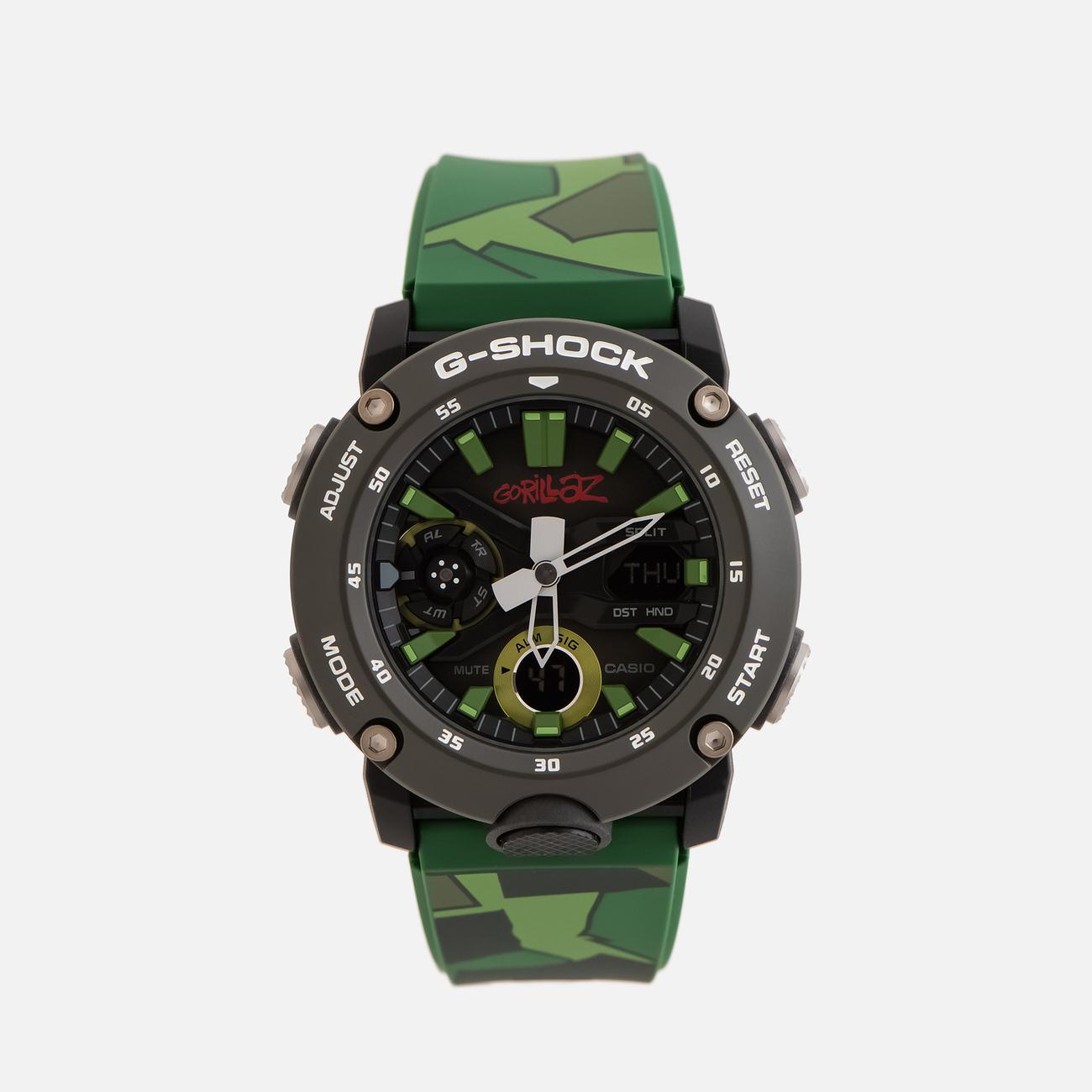 Наручные часы CASIO x Gorillaz G-SHOCK GA-2000GZ-3AER Camo
