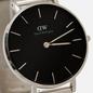 Наручные часы Daniel Wellington Petite Sterling Silver/Silver/Black фото - 2