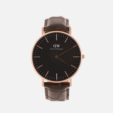 Женские наручные часы Daniel Wellington Classic York 36mm Black/Rose Gold