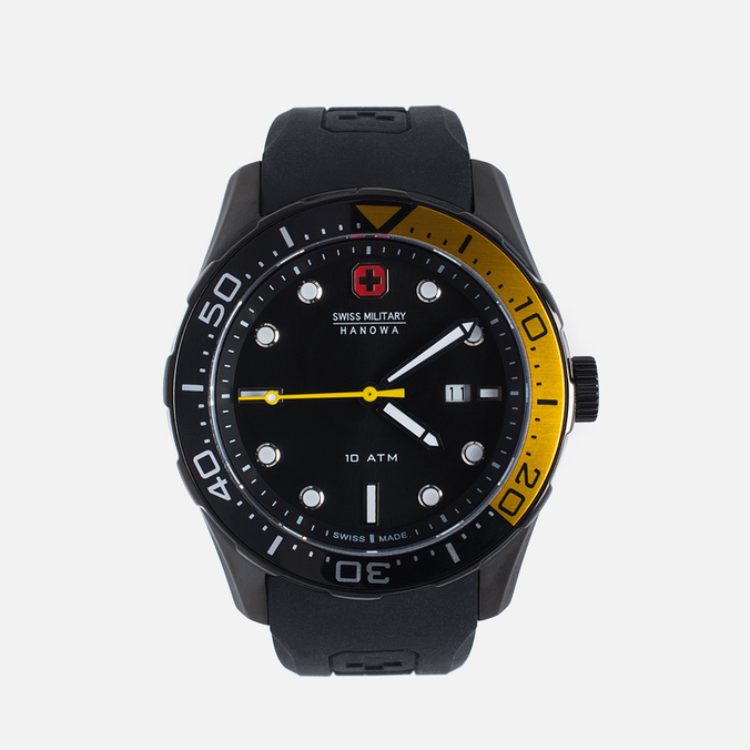 Мужские наручные часы Swiss Military Hanowa Aqualiner Black/Gold