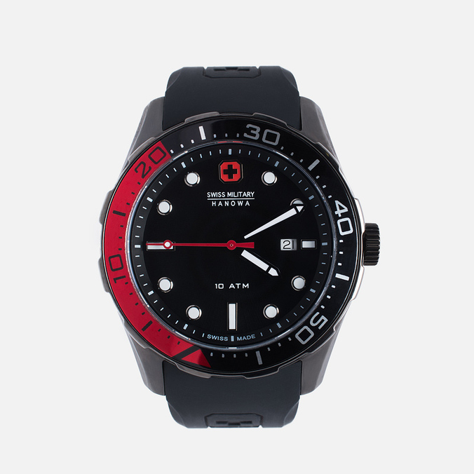 Мужские наручные часы Swiss Military Hanowa Aqualiner Black/Red
