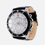 Мужские наручные часы Swiss Military Hanowa Navy Line Flagship Chrono Silver/Black фото- 1