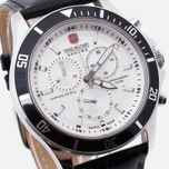 Мужские наручные часы Swiss Military Hanowa Navy Line Flagship Chrono Silver/Black фото- 2