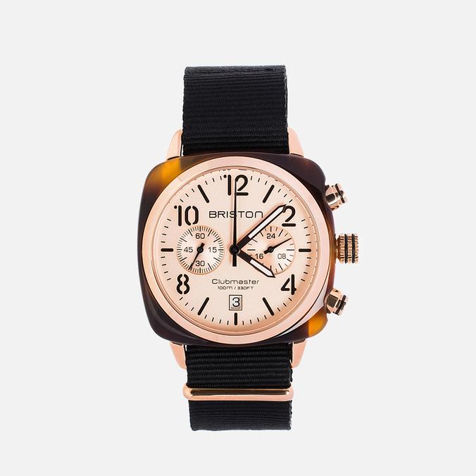 Briston Chrono Watch Black/Gold