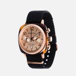 Briston Chrono Watch Black/Gold photo- 1