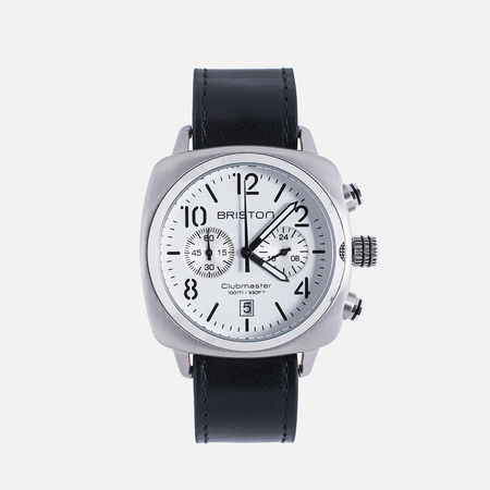 Briston Chrono Watch Black/Steel