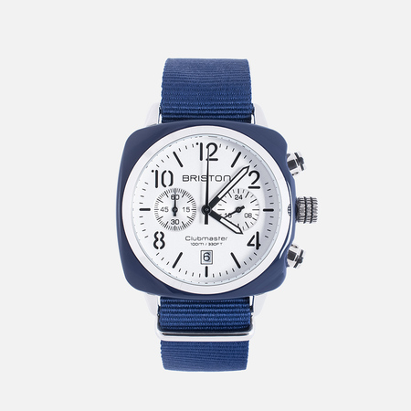Briston Chrono Watch Blue/White