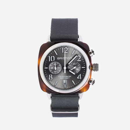 Briston Chrono Watch Grey/Brown