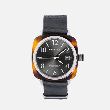 Briston HMS Watch Grey/Brown