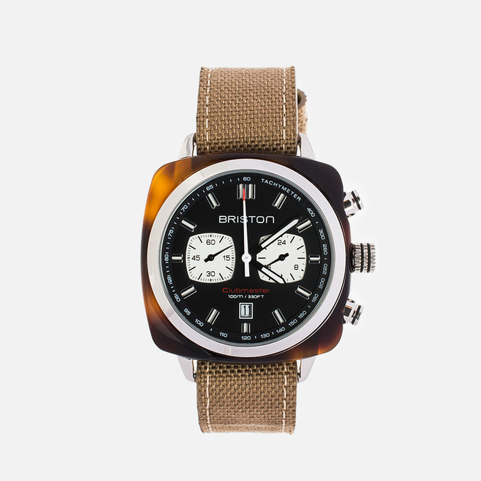 Briston Sport Chrono Day-Date Watch Brown