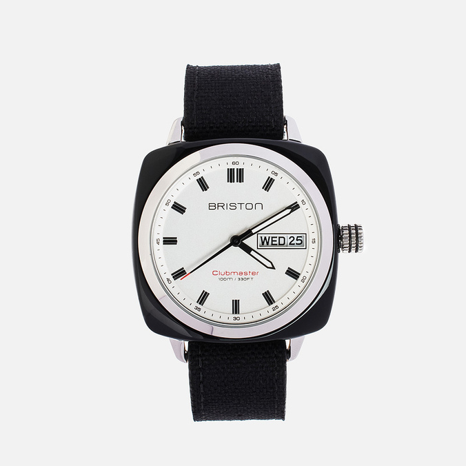 Briston Sport HMS Day-Date Watch Black/Steel