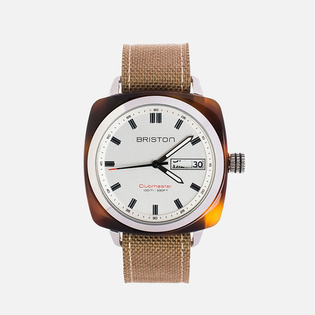 Briston Sport HMS Day-Date Watch Brown