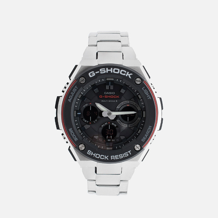 CASIO G-SHOCK GST-W100D-1A4ER Watch Steel/Black/Red