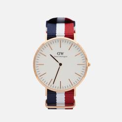 Наручные часы Daniel Wellington Classic Cambridge Blue/Red/White/Rose Gold/Eggshell White