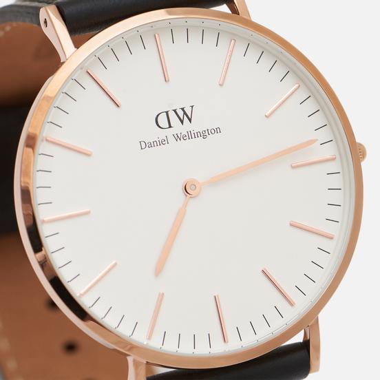 Наручные часы Daniel Wellington Classic Sheffield Black/Rose Gold/Eggshell White
