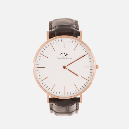 Мужские наручные часы Daniel Wellington Classic York 40mm White/Rose Gold