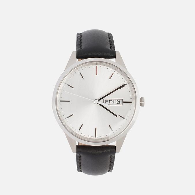 Наручные часы Uniform Wares C40 Brushed Steel/Black Nappa Leather