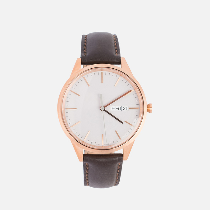 Наручные часы Uniform Wares C40-PVD Rose Gold/Brown Nappa Leather