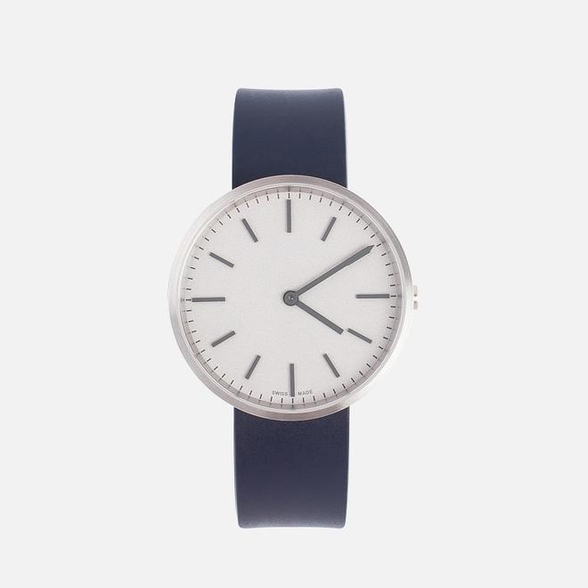 Наручные часы Uniform Wares M37 Brushed Steel/Blue Nitrile Rubber
