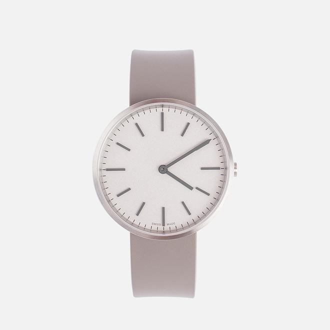 Наручные часы Uniform Wares M37 Brushed Steel/Grey Nitrile Rubber