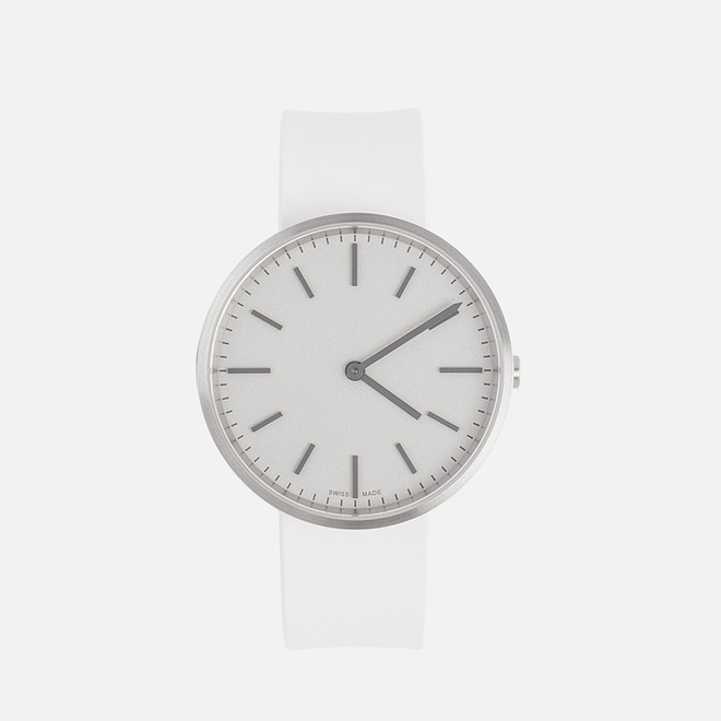 Наручные часы Uniform Wares M37 Brushed Steel/White Nitrile Rubber