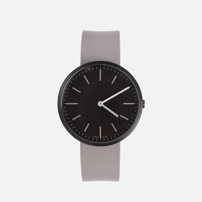 Uniform Wares M37-PVD watch Black/Grey Nitrile Rubber