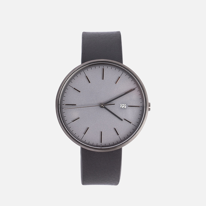 Наручные часы Uniform Wares M40-PVD Grey/Black Nappa Leather