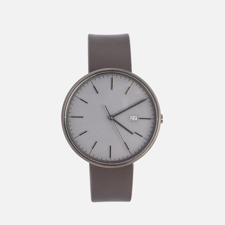 Наручные часы Uniform Wares M40-PVD Grey/Brown Nappa Leather
