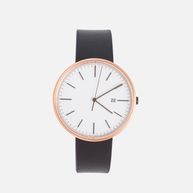 Наручные часы Uniform Wares M40-PVD Rose Gold/Black Nappa Leather