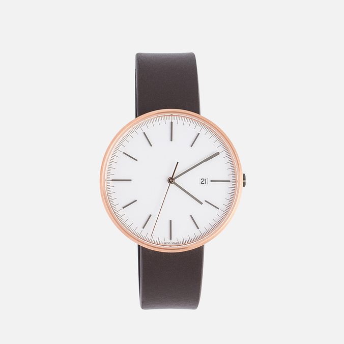 Наручные часы Uniform Wares M40-PVD Rose Gold/Brown Nappa Leather