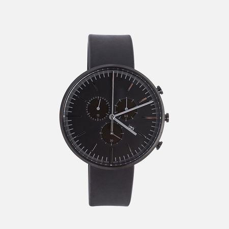 Uniform Wares M42-PVD Watch Black/Black Nappa Leather