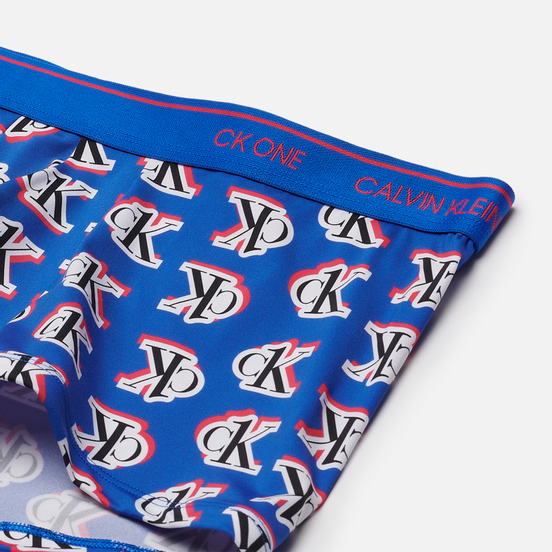 Мужские трусы Calvin Klein Underwear Low Rise Logo Step Print/Kettle Blue