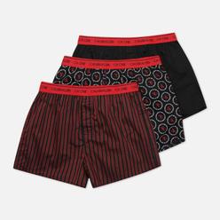 Комплект мужских трусов Calvin Klein Underwear 3-Pack Boxer Slim Link Logo/ Black/ Osborne Stripe