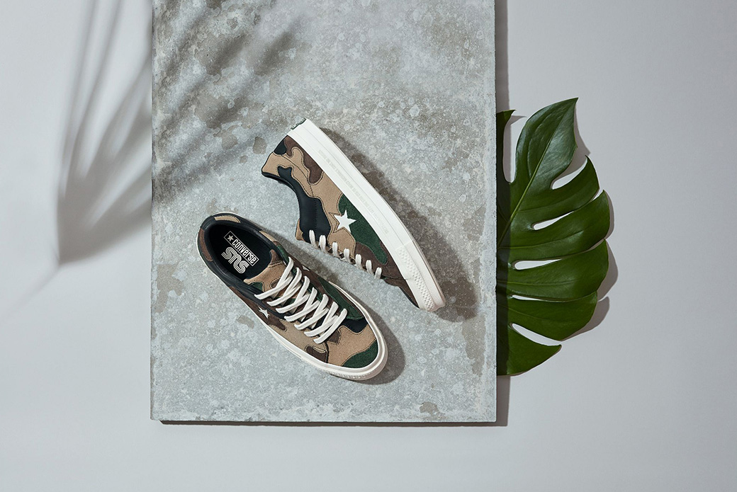 Converse × Sneakersnstuff: лоскутный камуфляж