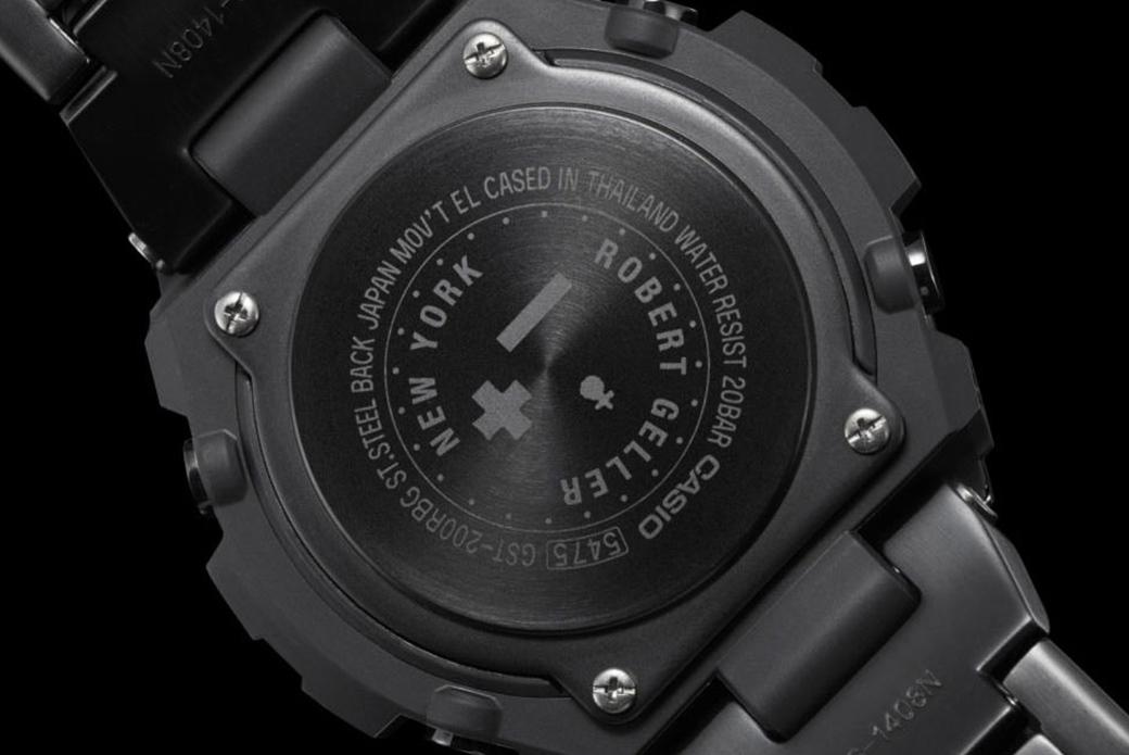 CASIO G-SHOCK × Robert Geller: стальная модель