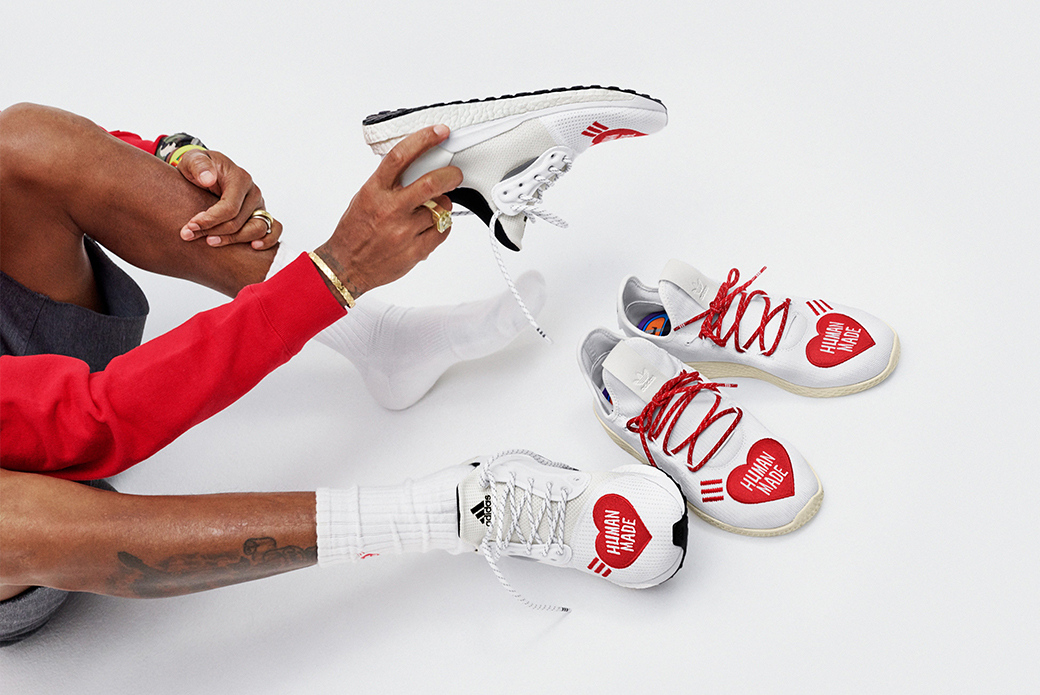 adidas Originals × Pharrell Williams × Human Made: союз сердец